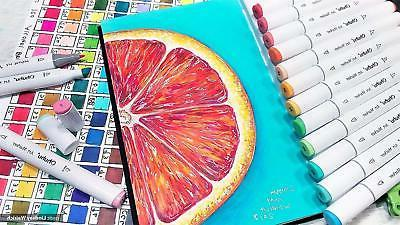 Ohuhu 80 Colors Tips Permanent Marker Pens Art Markers