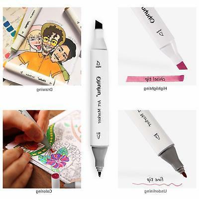 80 colors dual tips permanent marker pens
