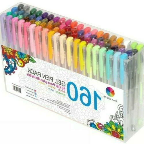 80 gel pen set coloring