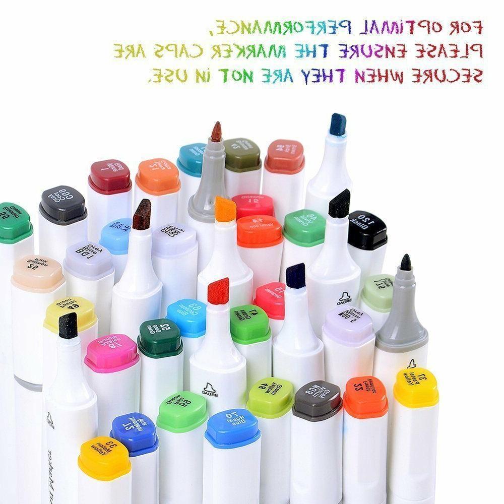80 pcs dual tip brush twin marker