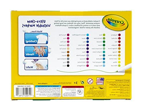 Crayola Ultra-Clean Line Markers; Tip for Stuffer, Multicolor