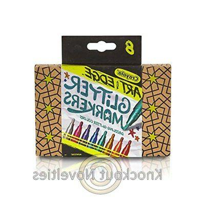 Crayola Art with Edge Glitter Markers - 8 Count