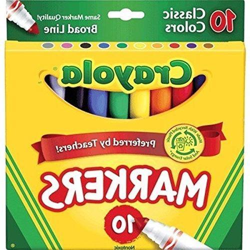 Crayola Line Markers,10