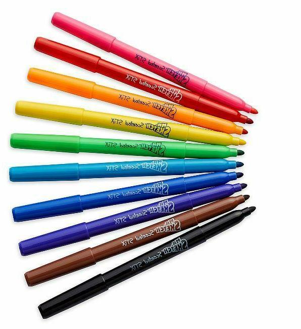 Mr. Sketch Scented Stix Watercolor Markers, Assorted Colors