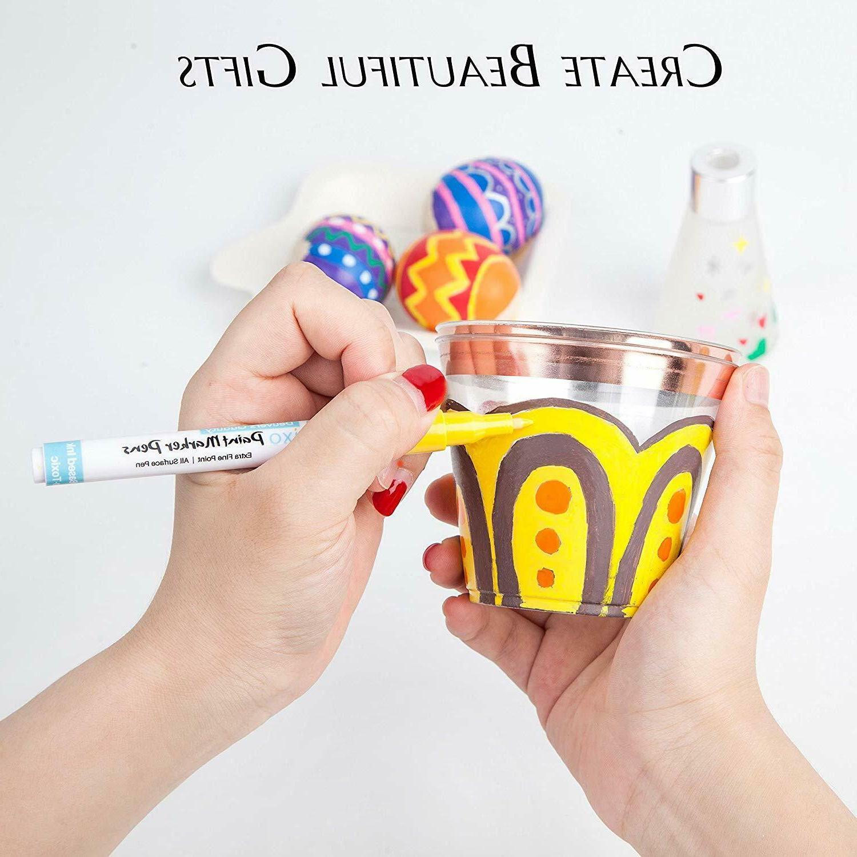 Acrylic Paint Pens-Set of 12 Premium Extra Fine Art
