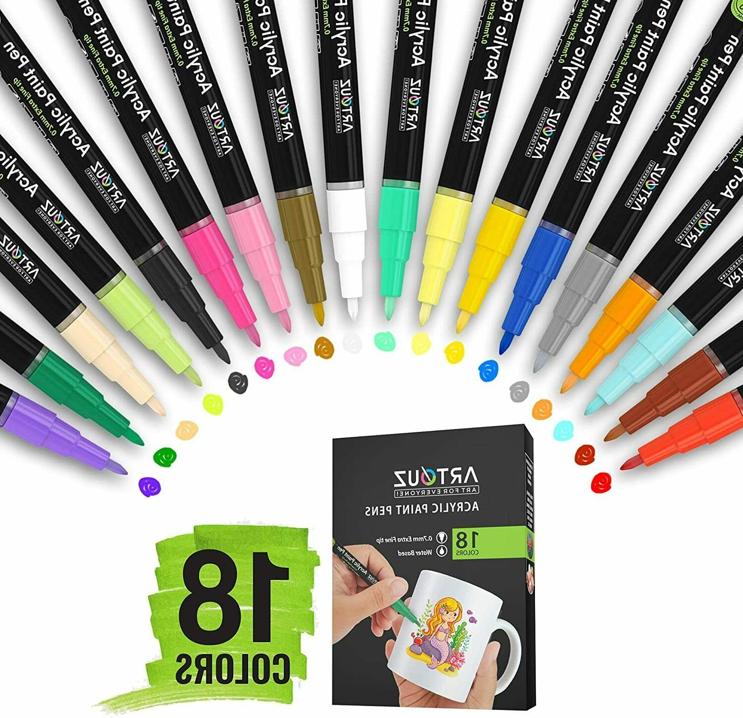 acrylic paint pens set of 28 premium