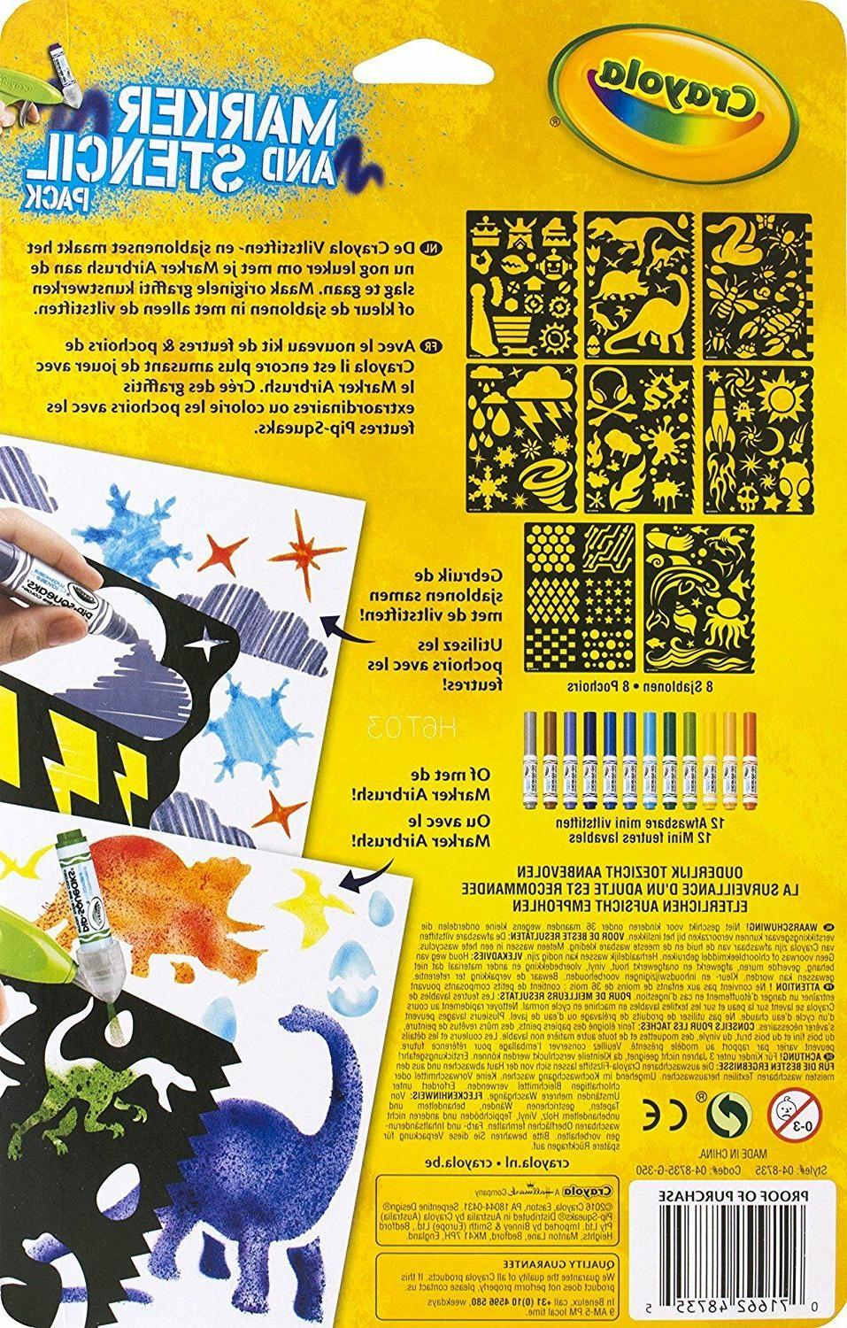 Crayola Stencil Pack 04-8735 SHIPPING~~