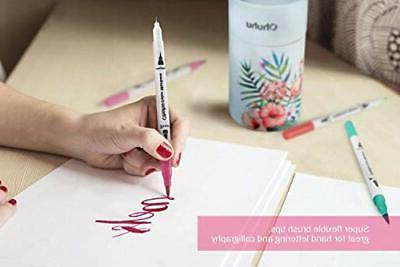 Art Tips Colouring Brush Pen Fineliner Pens 60