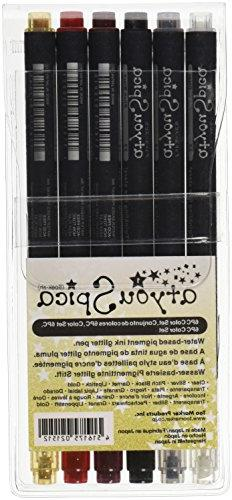 Copic Marker atyou Spica Glitter Pens, Set of 1, 6-Pack