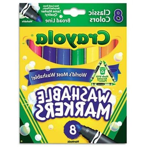 Crayola Markers, 8 Markers, Colors Pack of