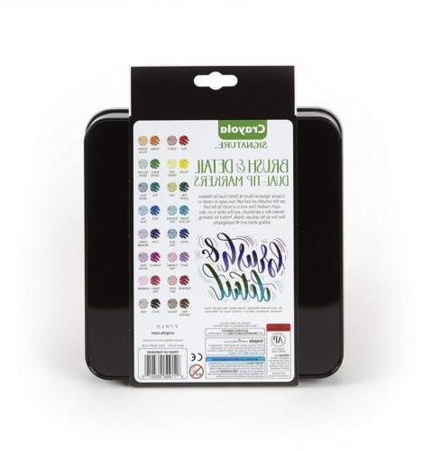 Crayola Brush Markers, with Ultra Decorative