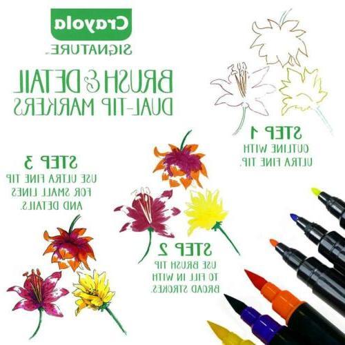 Crayola Brush Markers, with Ultra Decorative Storage...