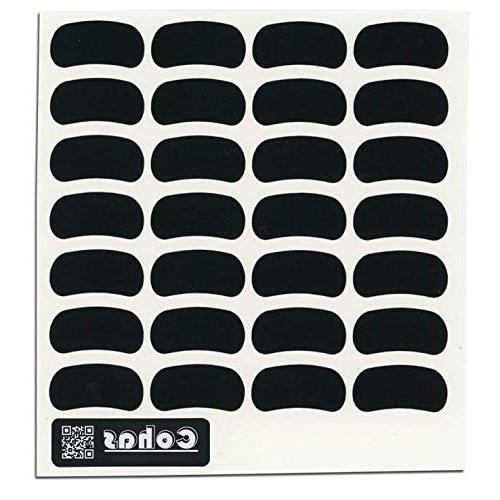 chalkboard eye black stickers