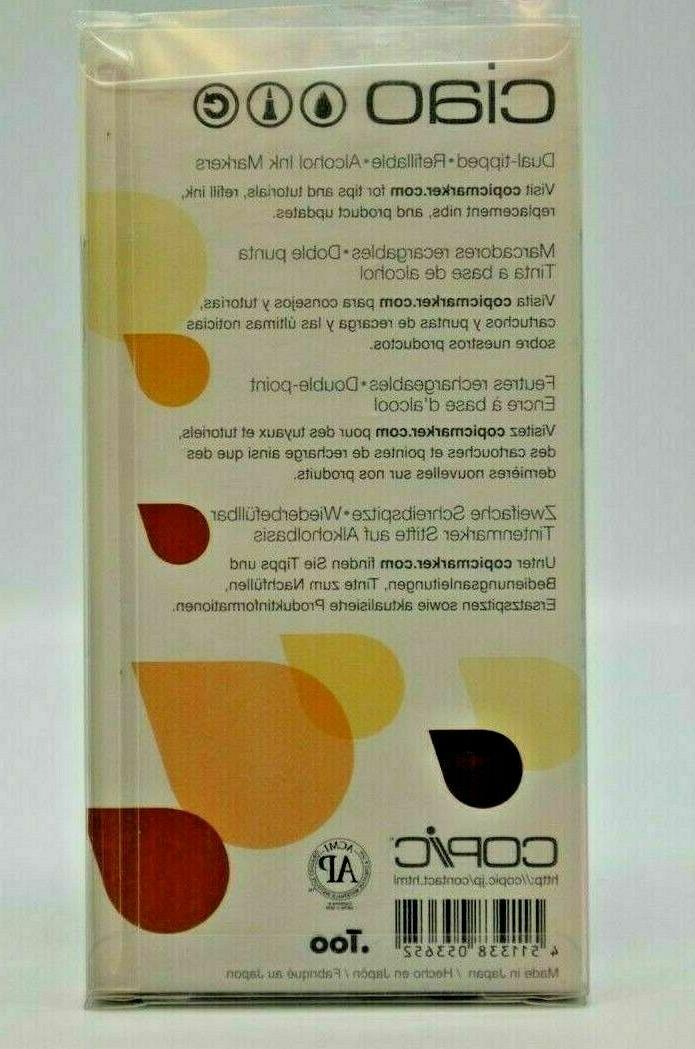 Copic Ciao 6 Skin Tone Colors. Twin Art