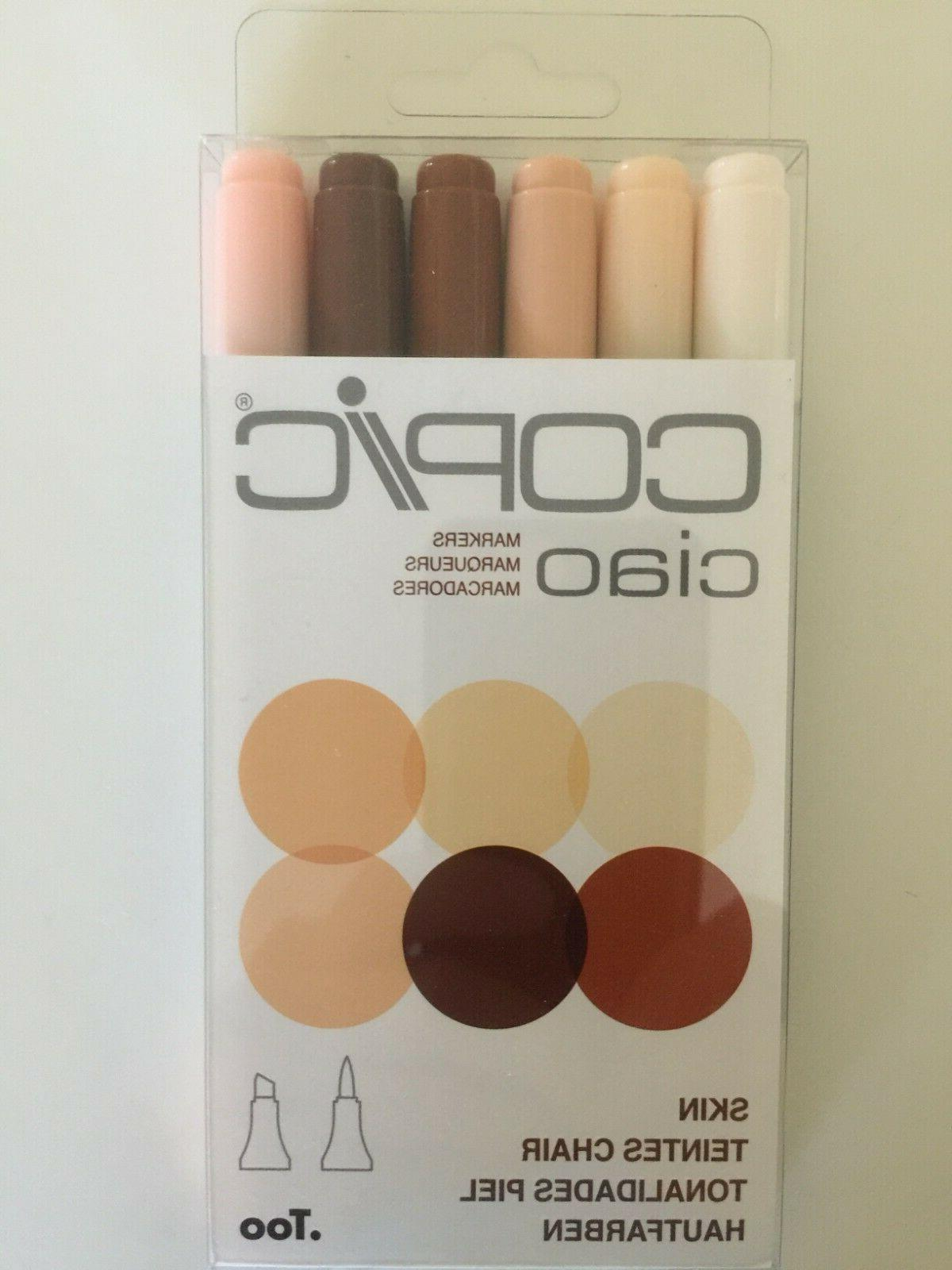 ciao marker pens 6 skin tone colors