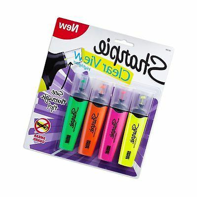 Sharpie Clear View Highlighters, Colors, 4-Count