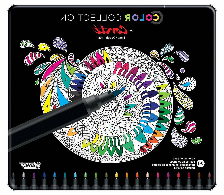 BIC Color Conte Colors, 20-Count