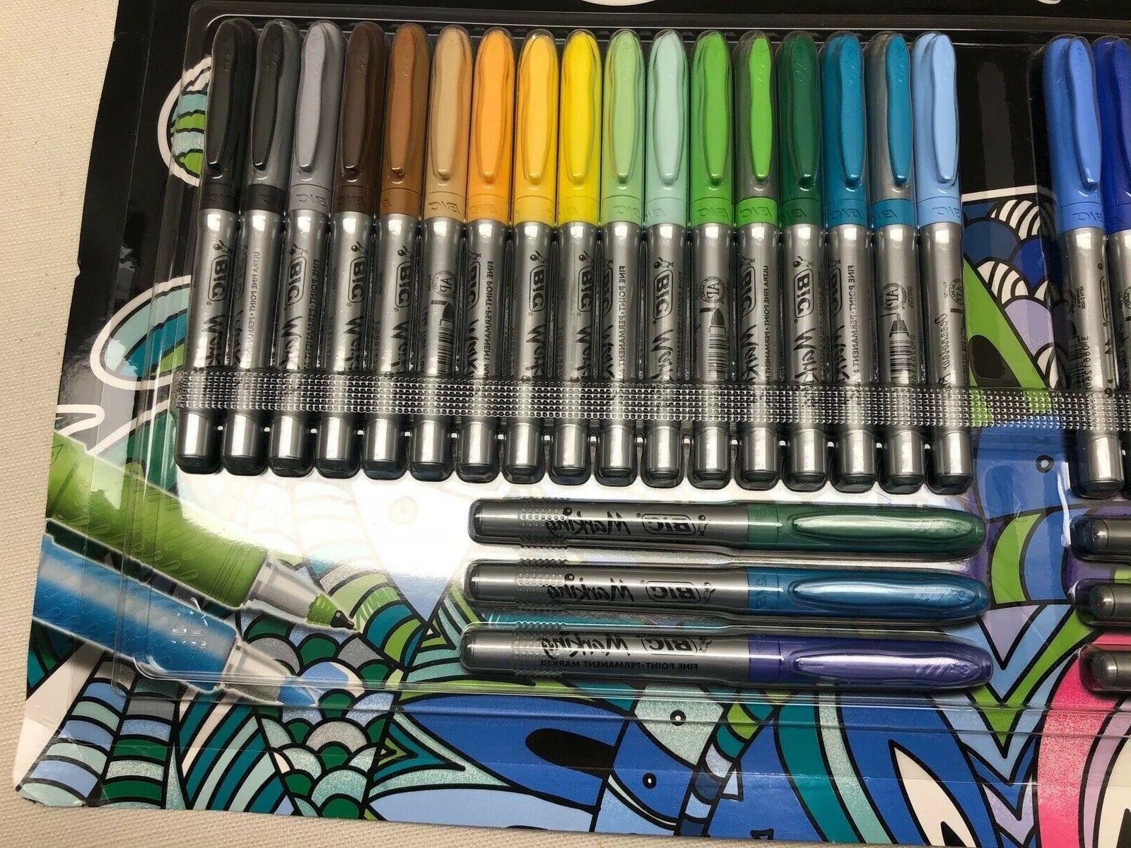 BIC Color Assorted 40 Pens New Sealed Original
