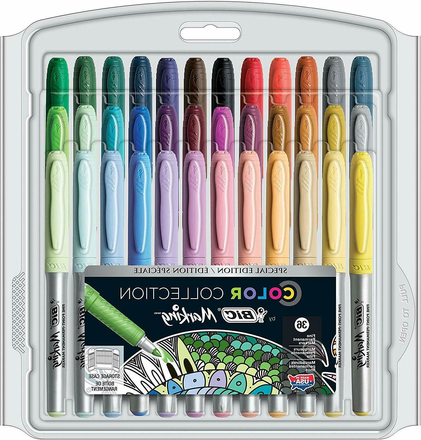 color collection permanent markers fine point assorted