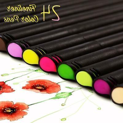 Colored Bullet Journal pens, Fine Fineliner Markers