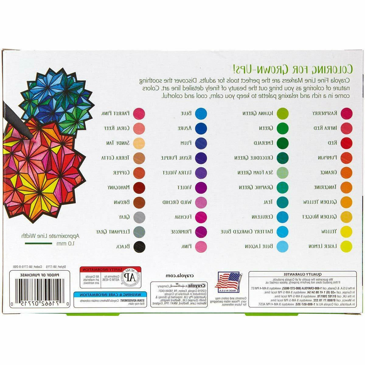Crayola Fine Line Markers, Assorted 40