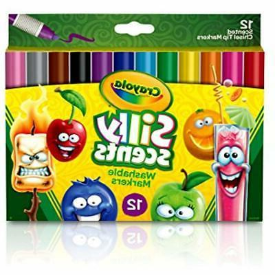 Crayola Scents, Washable Scented Markers, 12 Gift For 3 & Up