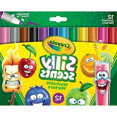 crayola silly scents washable scented markers 12