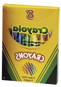 Crayola Crayons 8 Colors, 3 Pack