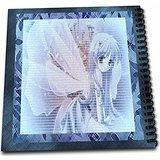 3dRose db_14822_1 Blue Anime Angel Drawing Book, 8 by 8-Inch