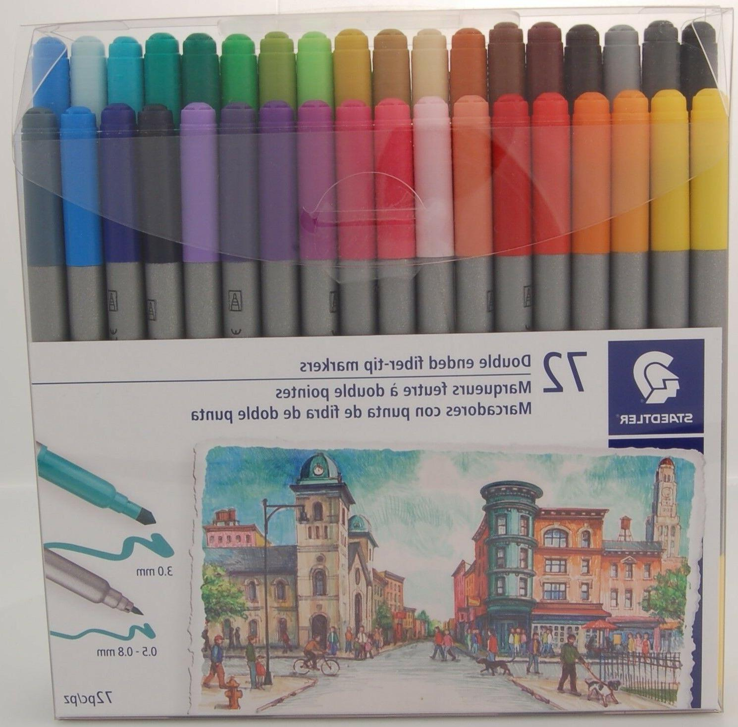 Staedtler Double Ended Fiber-Tip Markers 72 Colors Duo-Color