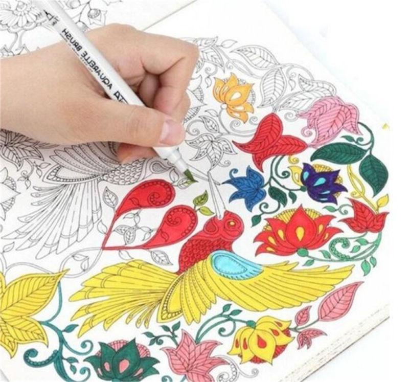 Dual Tip Brush Pens Art Highlighter For School Drawing Sketch