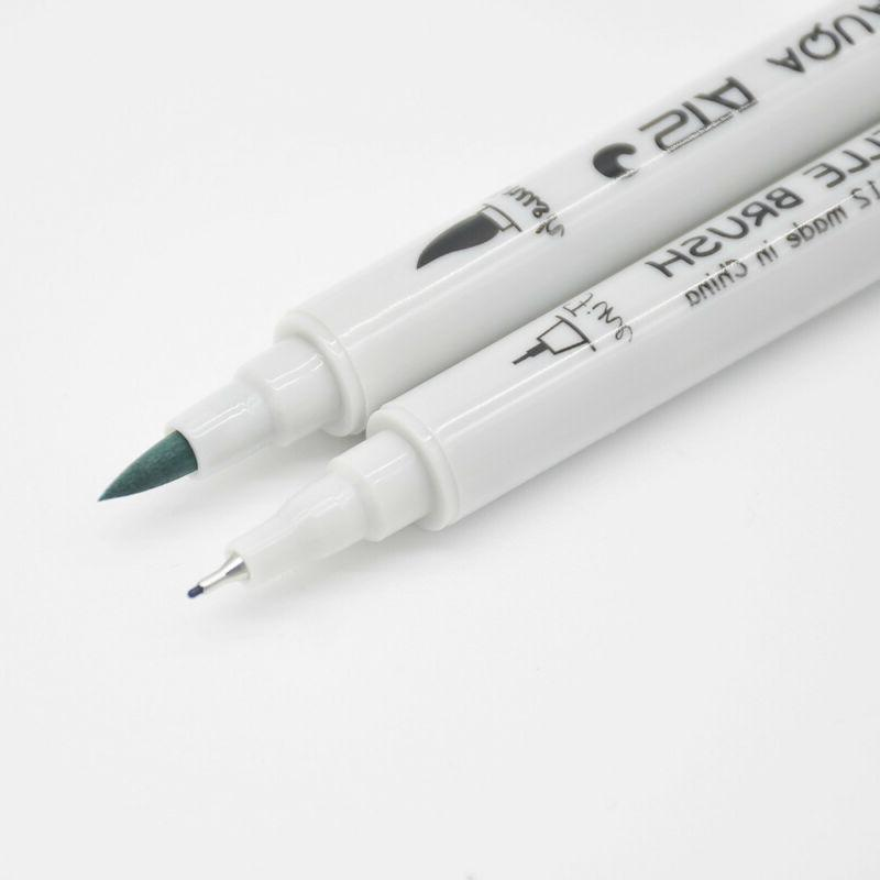 Dual Brush Markers Pens Set Highlighter Sketch