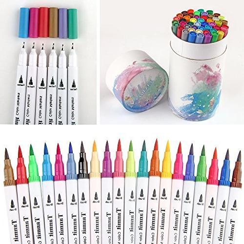 60 Tip Pens Liner Colored Pens Adult Books Bullet Journal Note Taking Planner Art