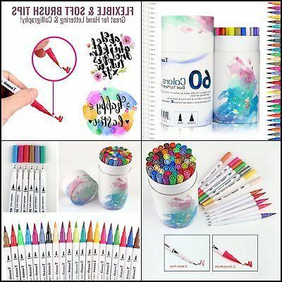 dual tip brush pens 60