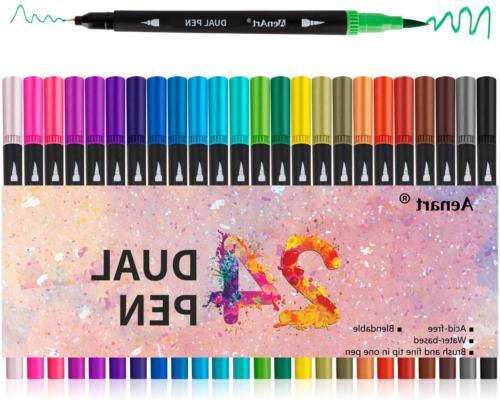 dual tip marker pens fine