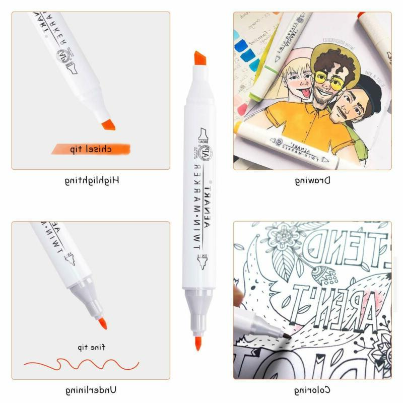 Dual Pens Set Double-Ended Markers Highlighter