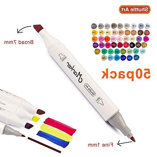 Shuttle Art Dual Marker Highlighters Case Perfect Adult Coloring Sketching Card Making