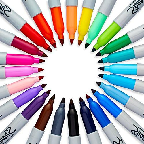 Sharpie Markers, Fine Assorted Colors, Count