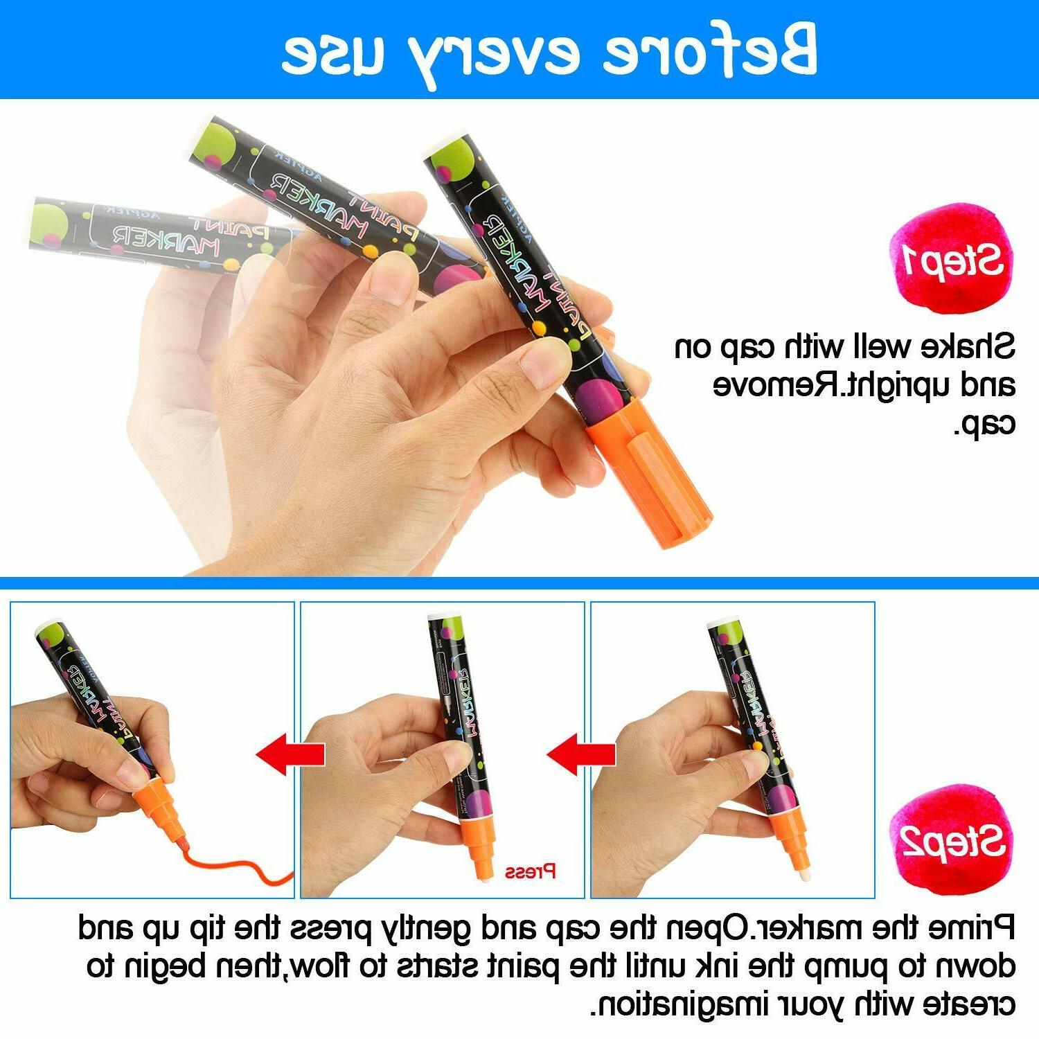 Fabric Markers Permanent Paint Clothing T-Shirt DIY