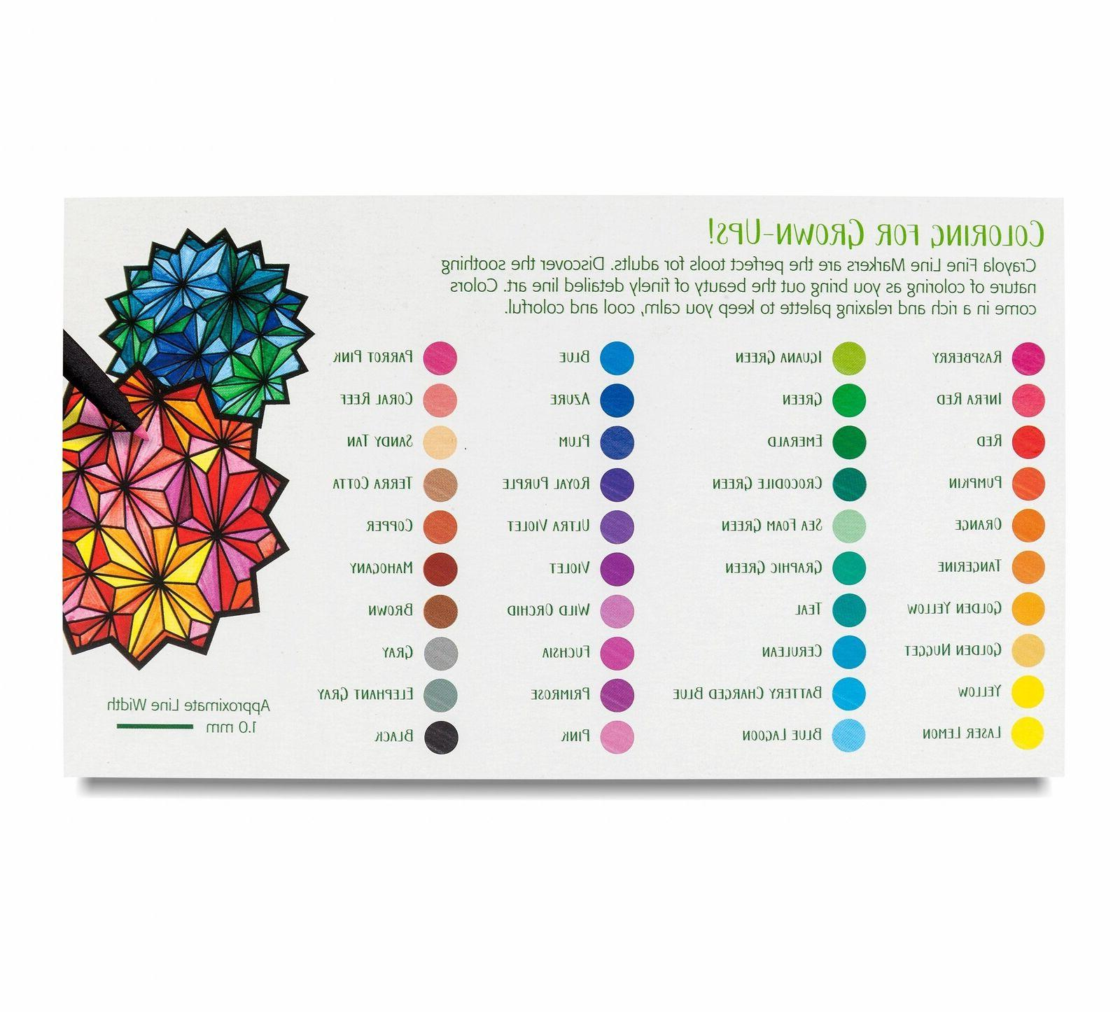 fine line markers 40 count assorted colors