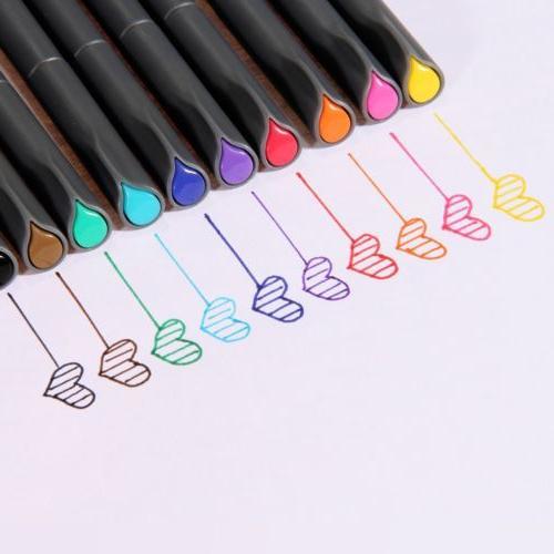 Ohuhu Fineliner Color Pen Set Fineliner Markers 0.38mm Color