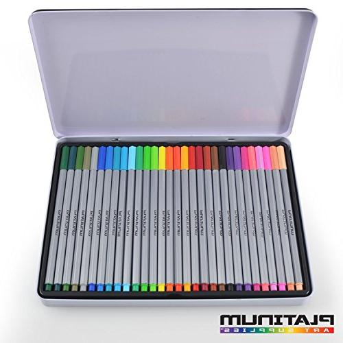 Fineliner Colorful 0.4mm Felt Tips 30 Individual - Point for & Coloring