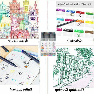24 Colors Set Sketch Drawing