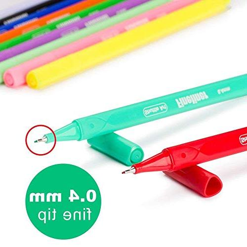 Shuttle Art Fineliner Pens, 100 Colors Fineliner Color Set Fine Line Point for Adult Books and Bullet Journal Art Projects