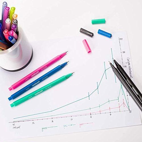 Shuttle Fineliner Color Pen Set Fine Line Pen Fine Point Adult Books and Bullet Projects
