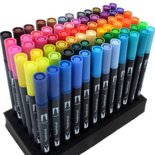 gc 72 colors dual tip brush pens