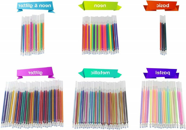 Gel Pens 120 Colors Adult Coloring Books No Duplicate