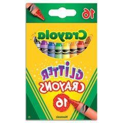 "Crayola ""Glitter Crayons, 16 Colors/Set"""