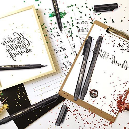 Hand Lettering Pen Refillable Drawings, Bullet Journaling More