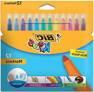 kids markers washable assorted colors 12 count